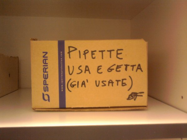 pipette usa e getta